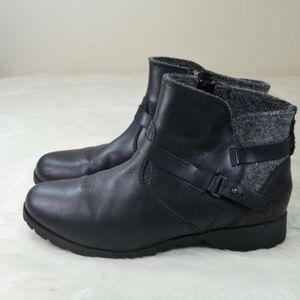 TEVA Delavina Ankle Boots Black Leather Boots